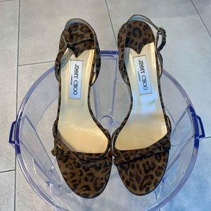 Jimmy Choo Slingback Leopard Prink Sandals